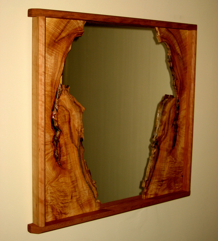 Natural Edge Cherry Mirror