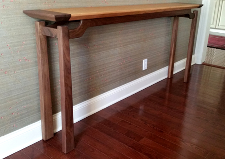 Walnut & Cherry Console Table
