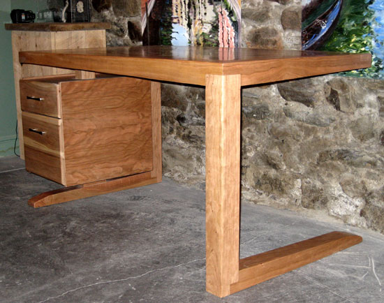 Contemporary Cherry Desk