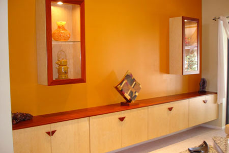 Padauk and Maple Cabinets