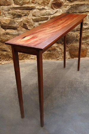 Console Table with Padauk Insert